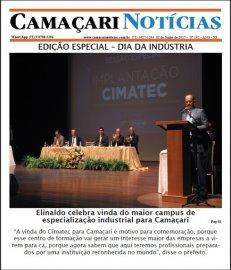 [Edição 192 do jornal impresso Camaçari Notícias é especial sobre Dia da Indústria]