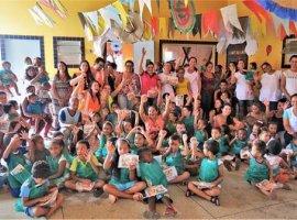 [Crianças de São Sebastião do Passé participam de atividades do Meio Ambiente]