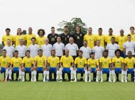 [CBF divulga foto oficial da seleção brasileira na Copa da Rússia]