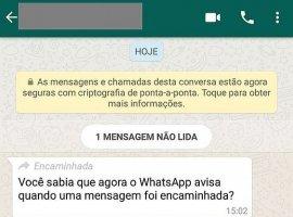 [WhatsApp agora mostra quando mensagem foi encaminhada]