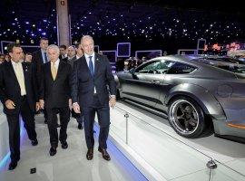 [Presidente Michel Temer visita o estande da Ford no Salão do Automóvel]
