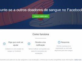 [Facebook lança ferramentas e parcerias para incentivar a doação de sangue]