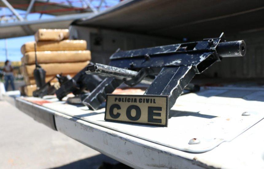 Durante operação, COE apreende duas metralhadoras nesta terça