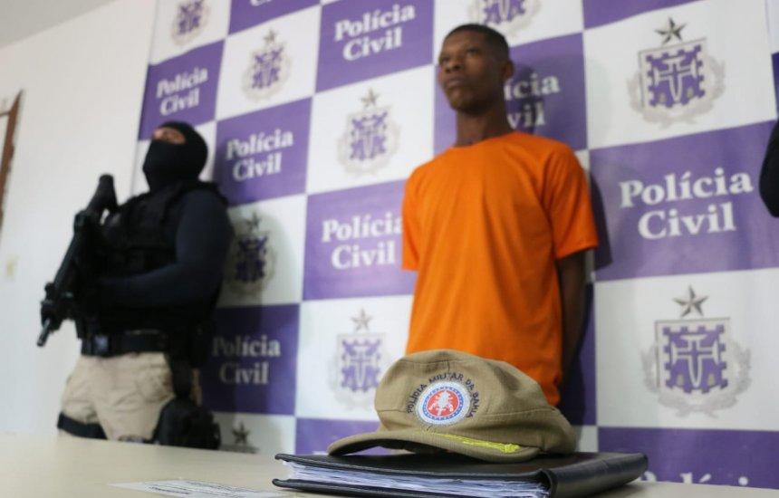 [Polícia apresenta suspeito de atirar em rosto de homem no Canela]