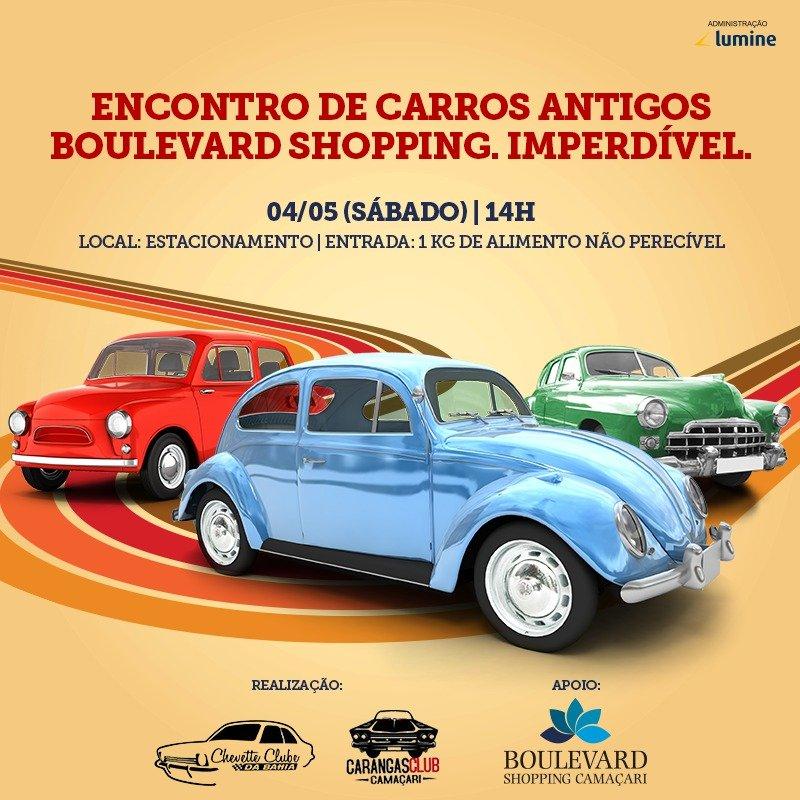 Boulevard Shopping Camaçari recebe exposição de carros antigos 2