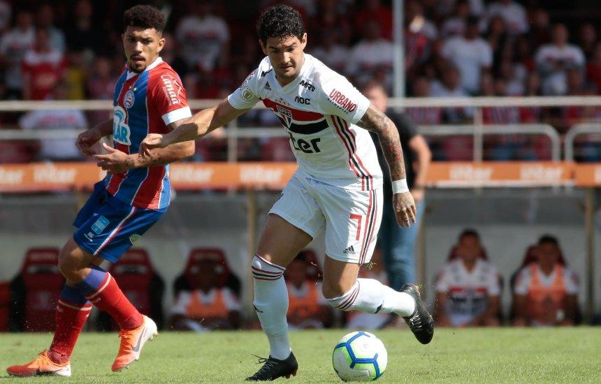 Bahia pressiona, mas fica no empate com o São Paulo