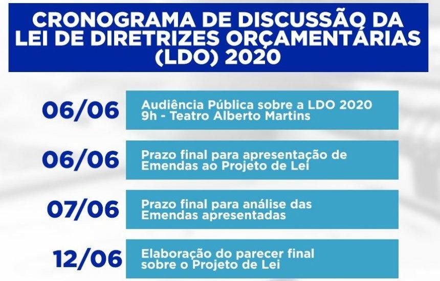 [Comissão de Constituição e Justiça divulga calendário de discussão da LDO 2020]