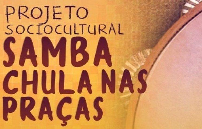 [Projeto Samba Chula nas Praças comemora o Julho das Pretas na Praça Maria Eulina]