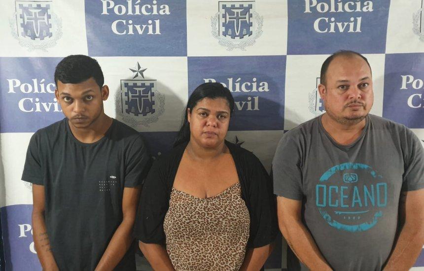 [Mãe, pai e filho são presos em flagrante por tráfico de drogas]