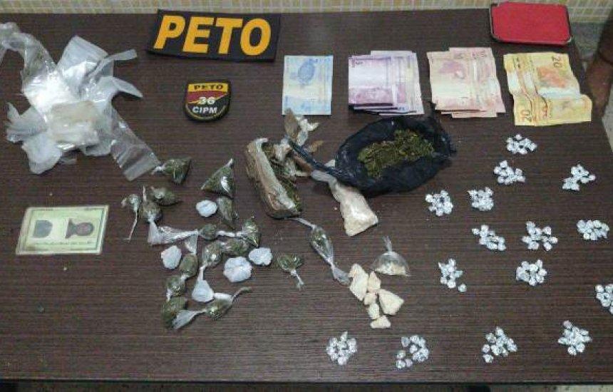 [Trio é preso em flagrante por tráfico de drogas em Dias d'Ávila]