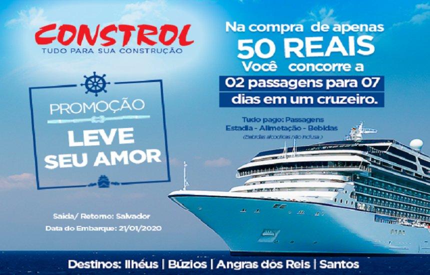 [Compre R$ 50 na Constrol e concorra a 02 passagens de Cruzeiro]