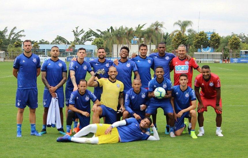 [Gilberto treina e Bahia está pronto para enfrentar o Atlético-MG]