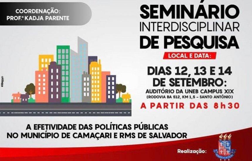 [UNEB Camaçari promove seminário sobre políticas públicas no município]