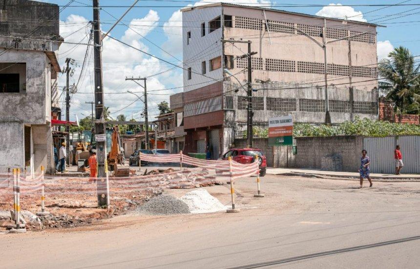 [Prefeitura intensifica trabalho de requalificação no bairro Lama Preta]