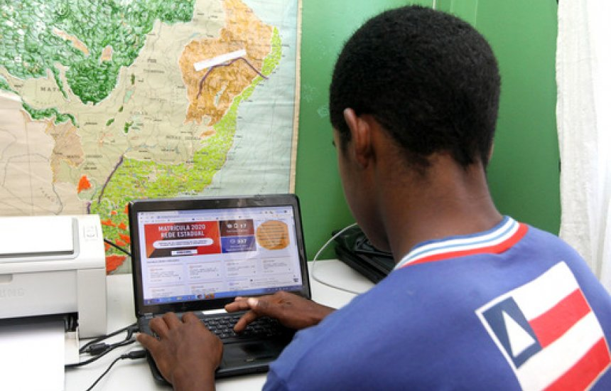 [Rede estadual de ensino dá início a matrícula 100% digital para 2020]