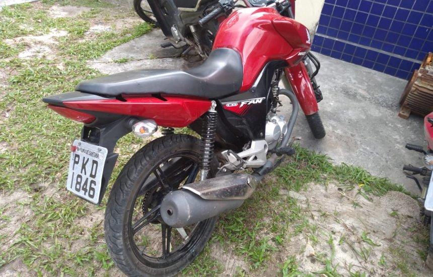 [Homem é preso em flagrante com moto roubada em Camaçari]