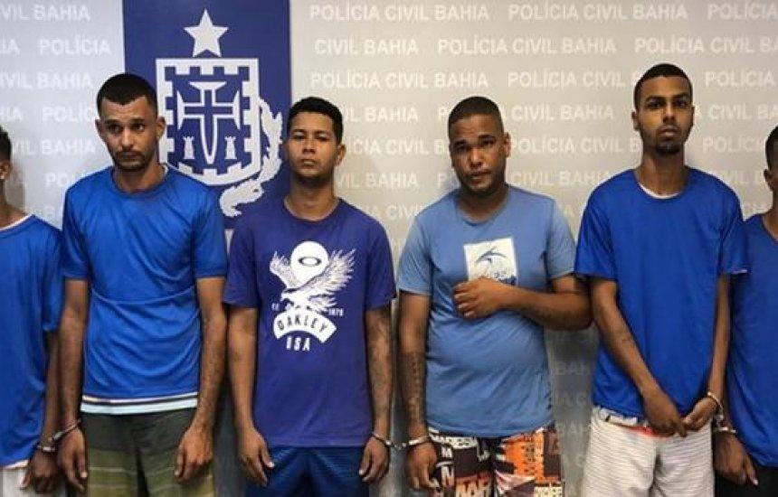 [Seis suspeitos de várias mortes em Mata de São João são presos durante operação]