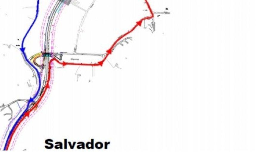 [Obras de novo viaduto da Linha Azul alteram trânsito na BR-324]