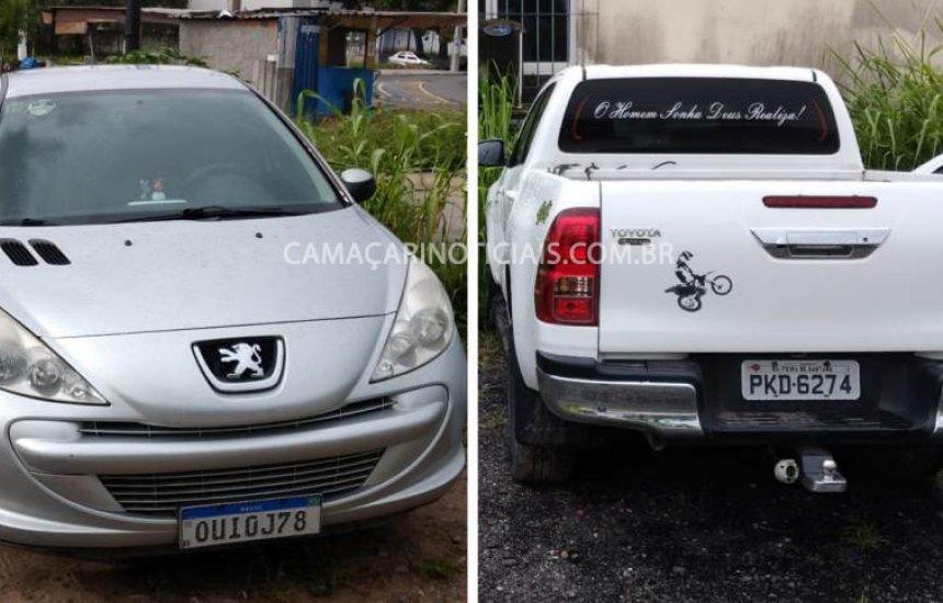 [Dois veículos são recuperados pela polícia em Camaçari]