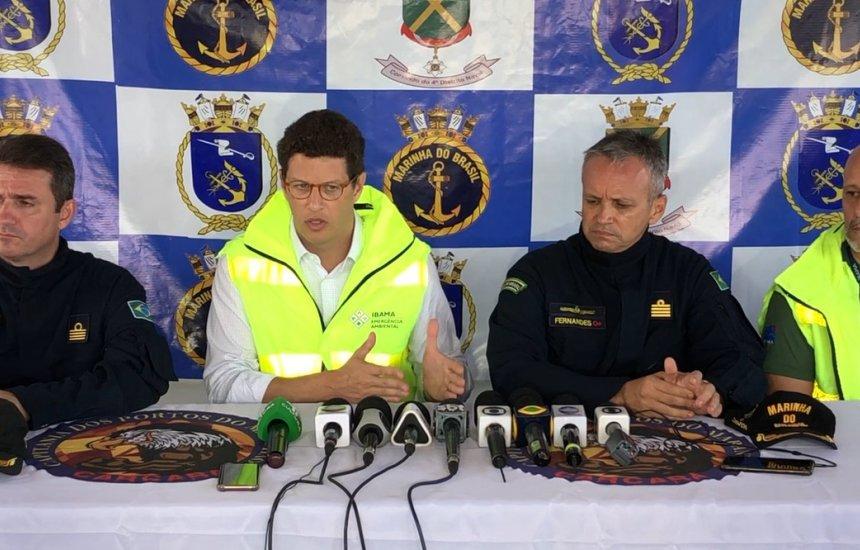 [Maranhão: Inspeção em navio encalhado detecta dano em área de 25 metros]
