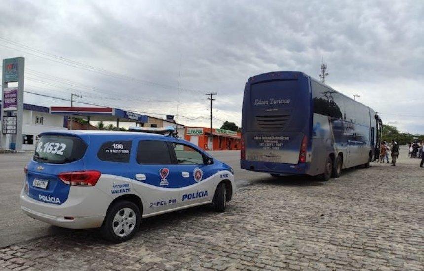 [Ônibus clandestino com 32 passageiros oriundo de São Paulo é apreendido na Bahia]