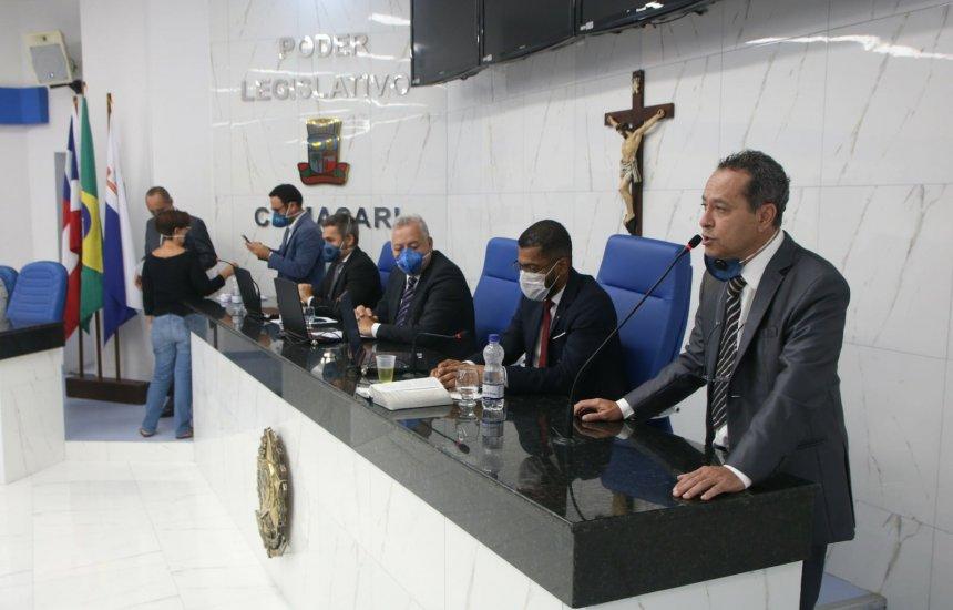 [Vereadores de Camaçari discutem projetos de lei para enfrentamento da Covid-19]