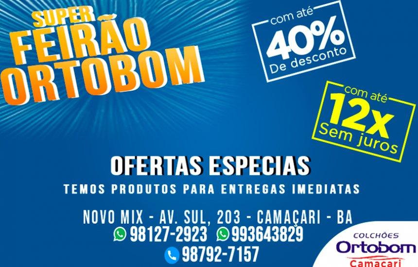 Compre seu Ortobom no Estacionamento do Atacadão Novo Mix ( Av. Sul) com ofertas especiais