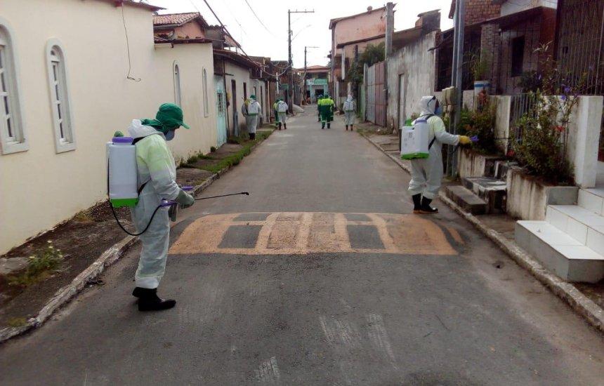 Com maior n° de infectados pelo Covid-19, medida de desinfecção é reforçada em Vila de Abrantes