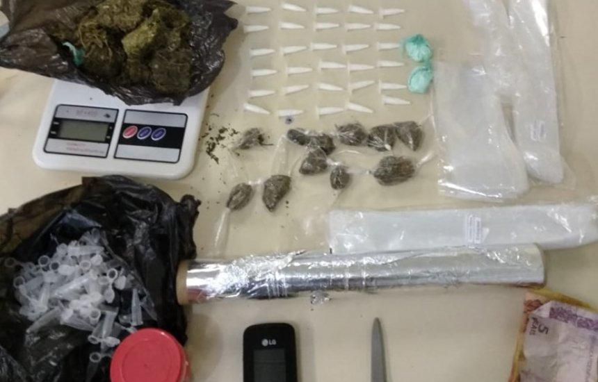 [Homem é preso com cocaína e maconha no Centro de Camaçari]