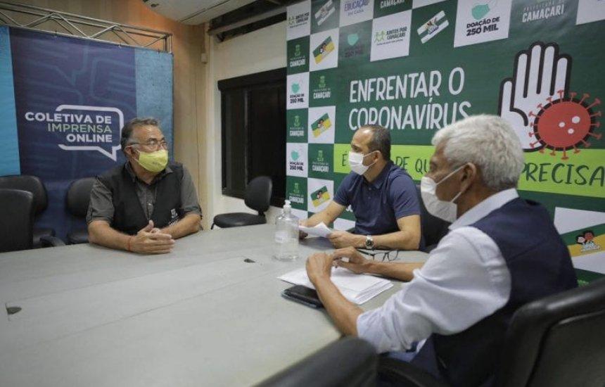 [Prefeito Elinaldo participa de reunião e avalia ações de combate à Covid-19]