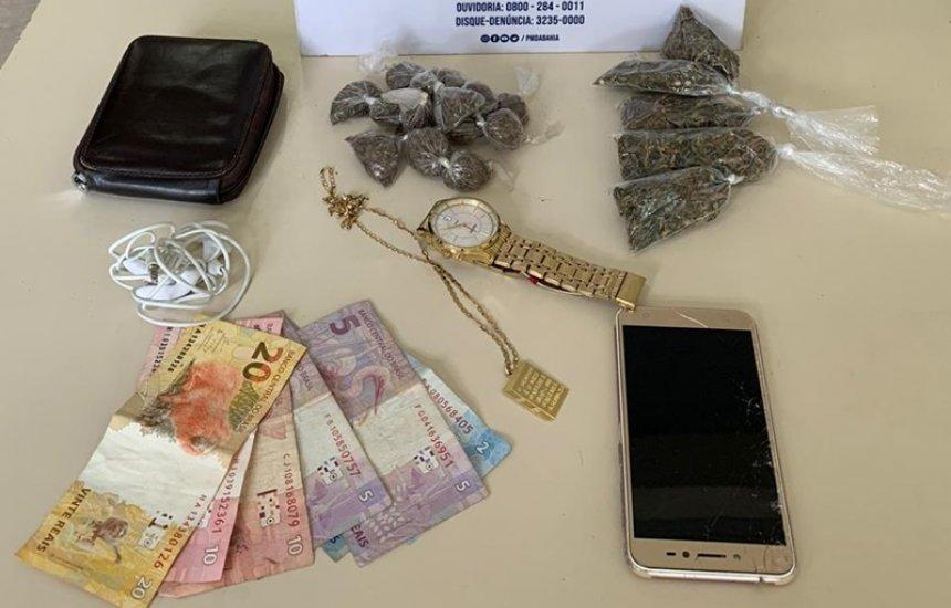 [Polícia prende jovem com drogas no Verde Horizonte]