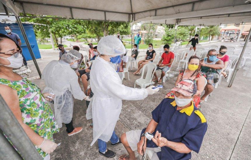 [Prefeitura inicia aplicação de testes rápidos em moradores de Vila de Abrantes]