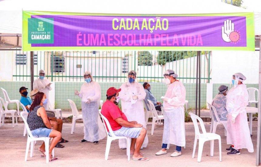 Moradores do Nova Vitória fazem teste rápido para Covid-19