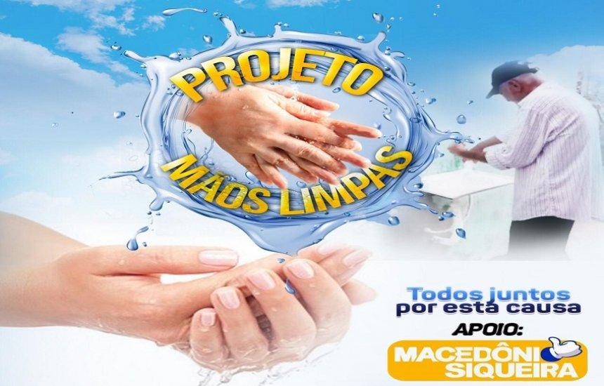 [Projeto Mãos Limpas instala pias para higienização em bairros de Camaçari]