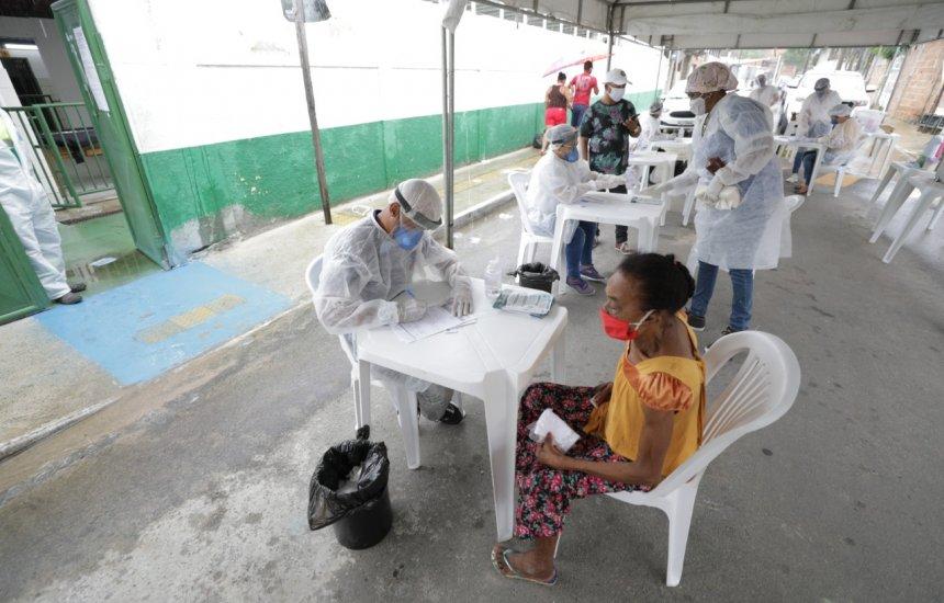 Prefeitura inicia teste rápido da Covid-19 em moradores de Catu de Abrantes