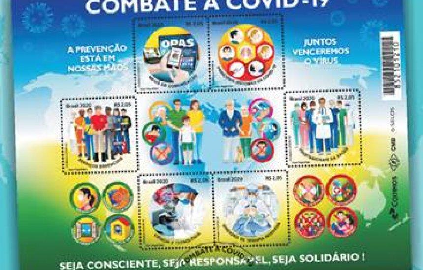 [Correios lança selos em homenagem às ações de combate à Covid-19]