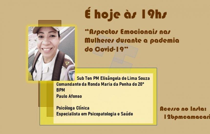 12º BPM promove live sobre aspectos emocionais nas mulheres durante a pandemia