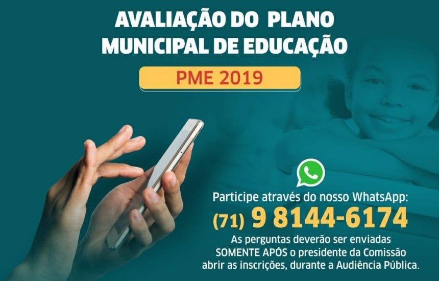 [Camaçari: Audiência Pública avalia Plano Municipal de Educação de 2019]
