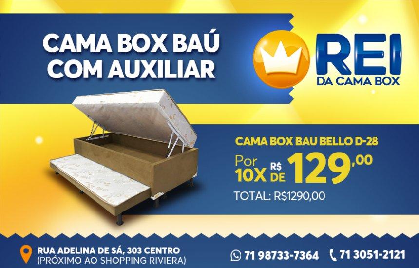 [Rei da Cama Box: Cama Baú com Auxiliar  em 10x]