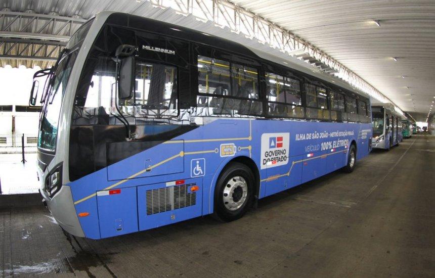 [Ônibus elétricos que irão circular no Subúrbio Ferroviário de Salvador realizam primeira viagem teste]