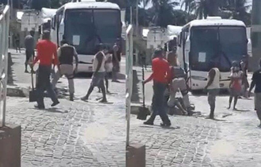 [Policial Militar é flagrado dando tapas no rosto de cidadã em Conde]