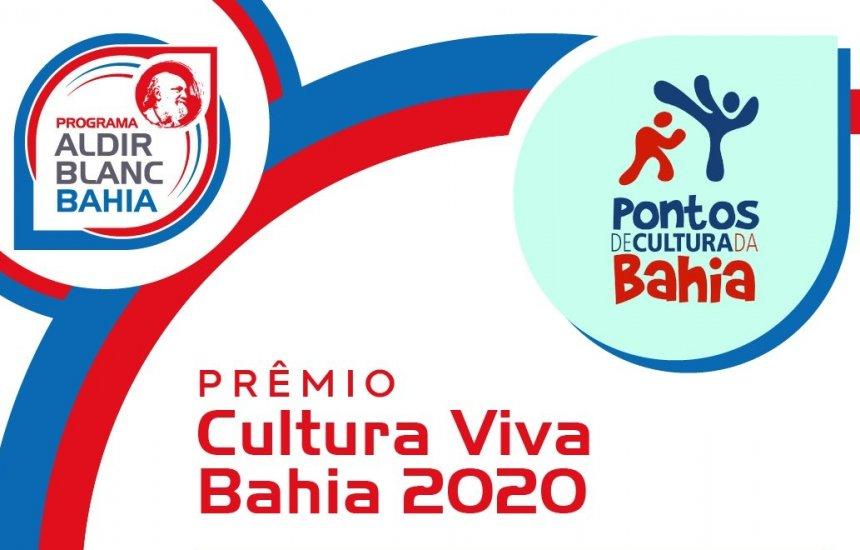[Secult prorroga prazo de inscrições do Prêmio Cultura Viva Bahia 2020]