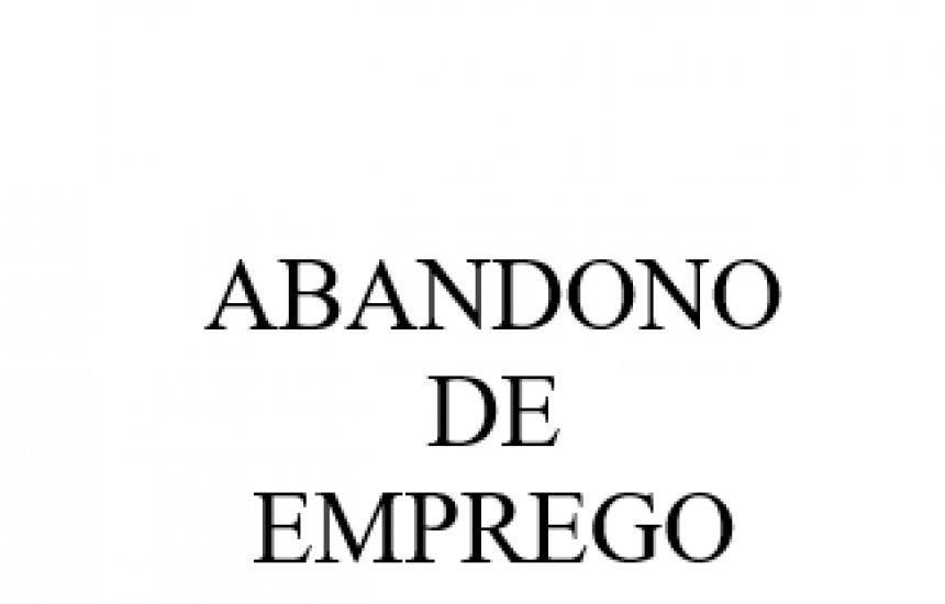 [Comunicado de Abandono de emprego empresa VCS COMERCIO DE MATERIAIS DE CONSTRUÇÃO]