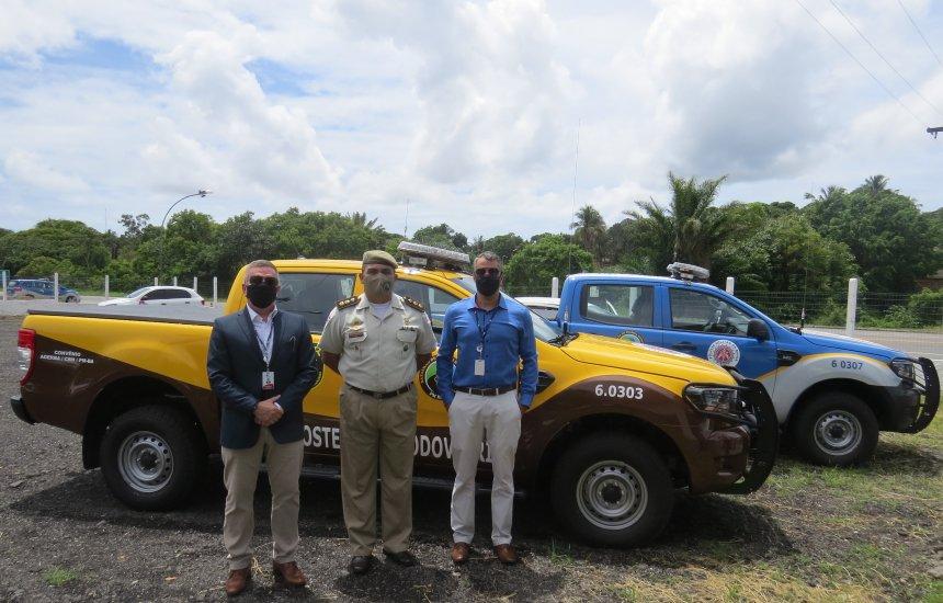 [Policia Militar Rodoviária da Bahia recebe duas novas viaturas]