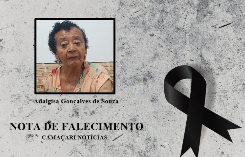 [Familiares dão o último adeus a Adalgisa Gonçalves de Souza]