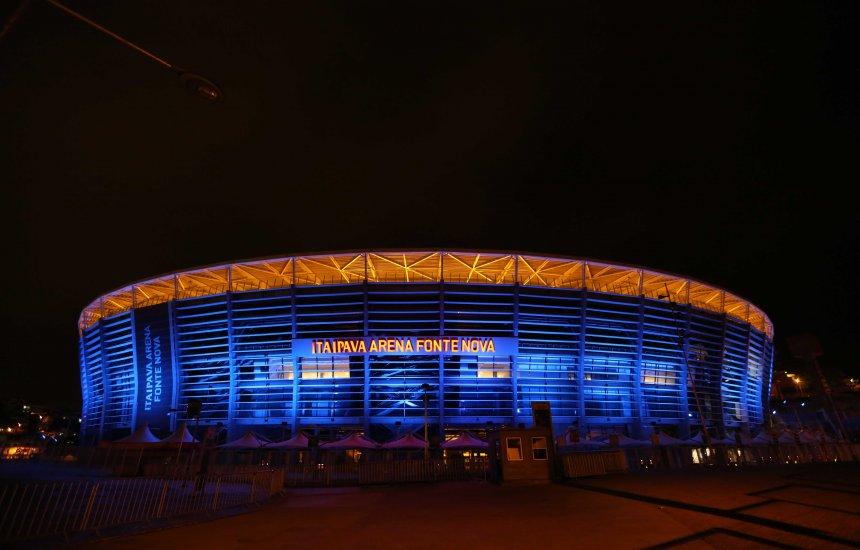 [Arena Fonte Nova ganha iluminação especial para o Março Azul]