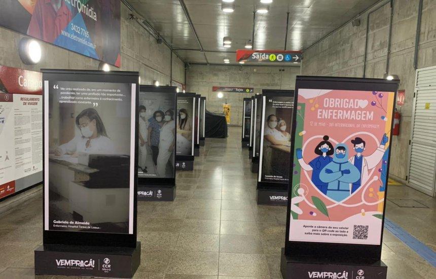 [Estação Campo da Pólvora de Metrô recebe exposição que homenageia profissionais de saúde]