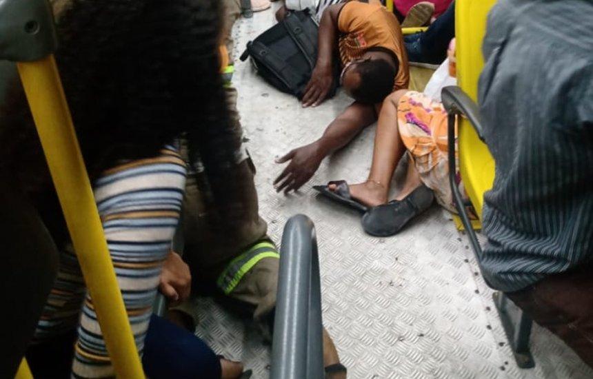 [Agente penitenciário iniciou tiroteio que deixou cinco feridos durante assalto a ônibus na BR-324]