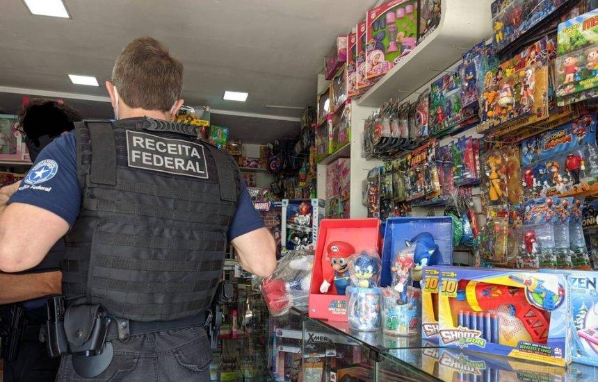 [Mercadorias falsificadas são apreendidas pela Receita Federal em operação na Bahia]