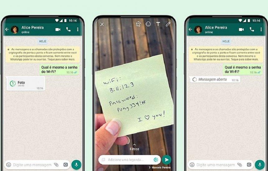 [WhatsApp cria recurso de fotos e vídeos que só poderão ser visualizados uma vez]